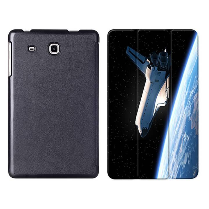 """EG MTT Tablet Tasche mit Smart faltbare Abdeckung für Samsung Galaxy Tab A A6 7 """"- Raumschiff"""