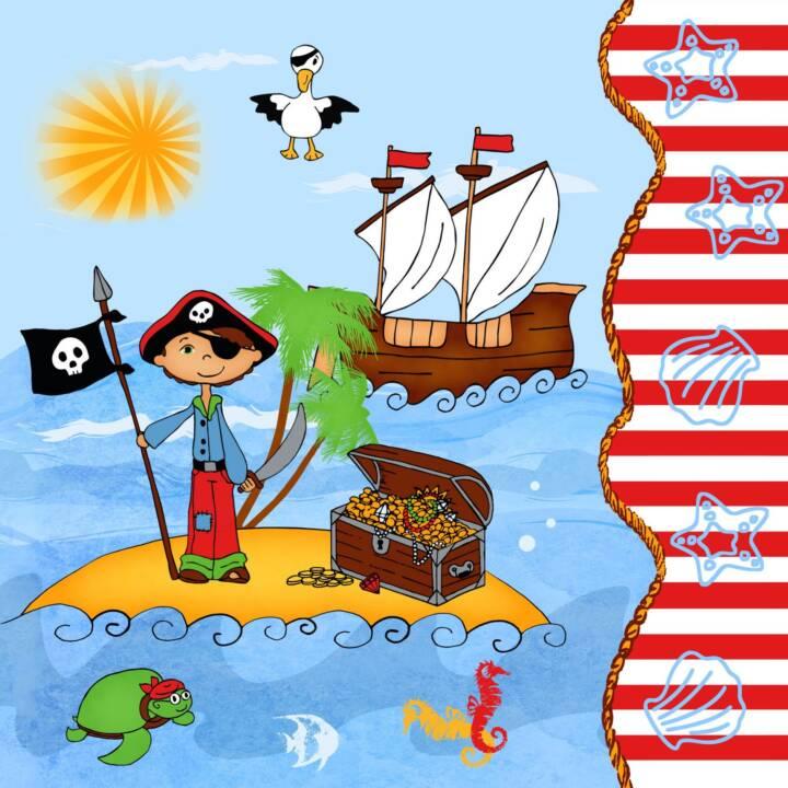 PAPSTAR Tovagliolo di carta Pirate Island (20 Stk, Lavorato)