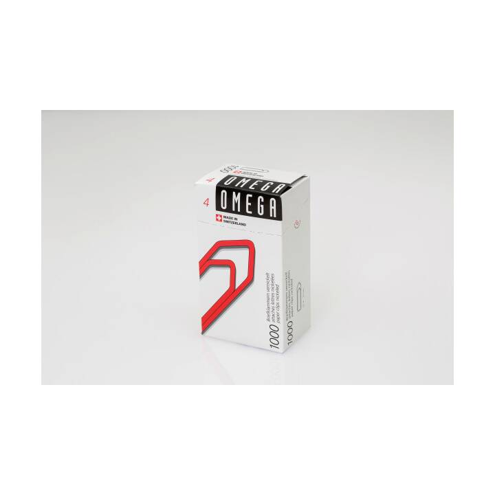 OMEGA Büroklammern Gr. 4 - 32 mm - 1000 Stück