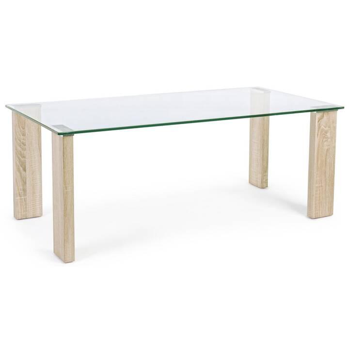 MUTONI LIFESTYLE Tavolino da salotto New Arley (45 cm, Transparente, Beige)