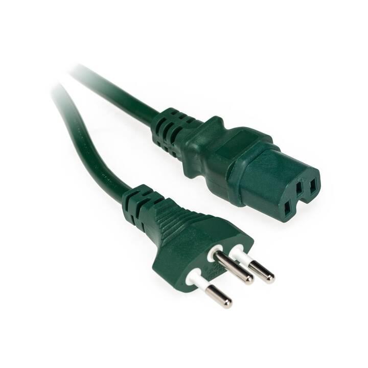 DIGGELMANN Câble secteur (C15 / T12, 2000 mm, Vert)