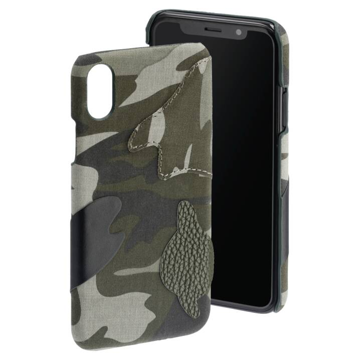 "HAMA Backcover Camouflage (5.8 "", Noir, Camouflage, Vert)"