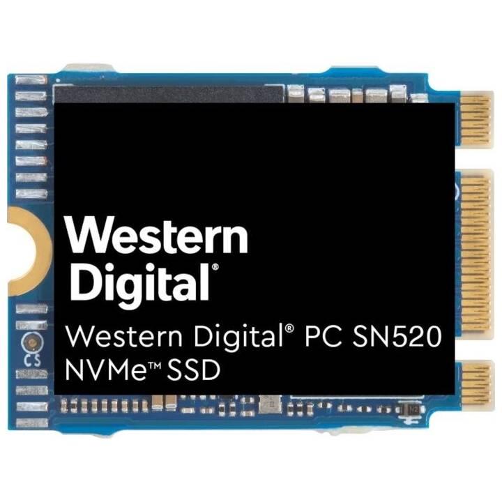 WESTERN DIGITAL PC SN520 NVMe (PCI Express, 512 GB, Bleu, Noir)