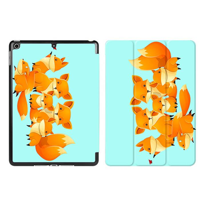 "EG iPad Sleeve pour Apple iPad 9.7"" 9.7"" 9.7"" - Tiffany Blue Cartoon Foxes"