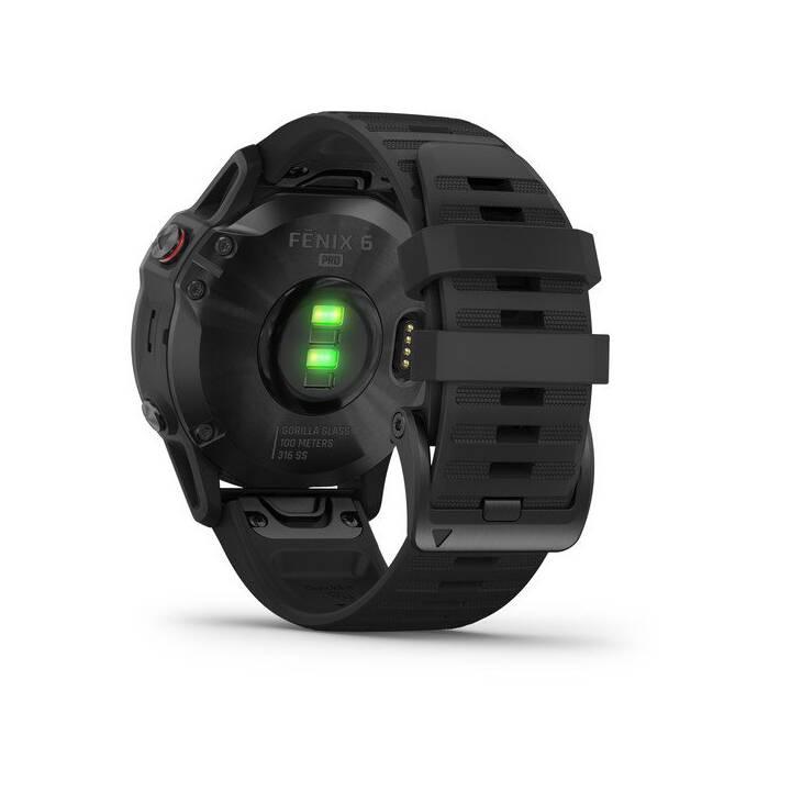 GARMIN fēnix 6 Pro (Taille unique, Métal, Plastique, Silicone, GALILEO, GLONASS, GPS)