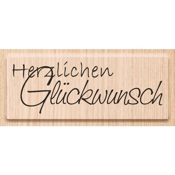 HEYDA Timbro speciale Glückwunsch (Marrone chiaro, Nero, Tedesco, 1 pezzo)