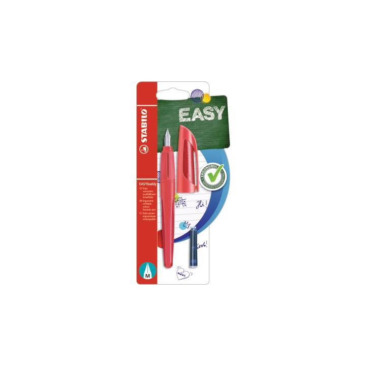 STABILO EASYbuddy Penne stilografice (Rosso)