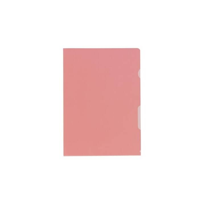 KOLMA Cartellina trasparente (Rosso, A4, 10 pezzo)