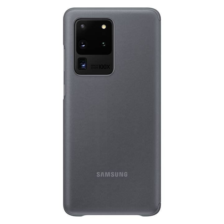 SAMSUNG Backcover Clear View (Galaxy S20 Ultra, Grigio)