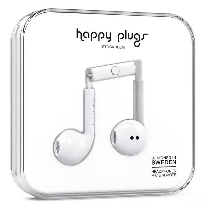 HAPPY PLUGS Unik Earbud Plus (In-Ear, Blanc)