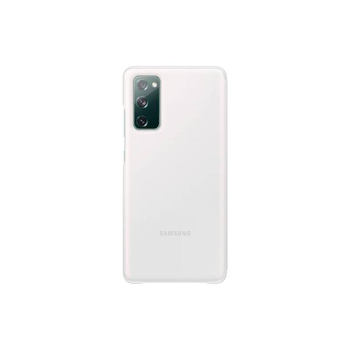 SAMSUNG Flipcover Clear View (Galaxy S20 FE, Antibatterico, Bianco)
