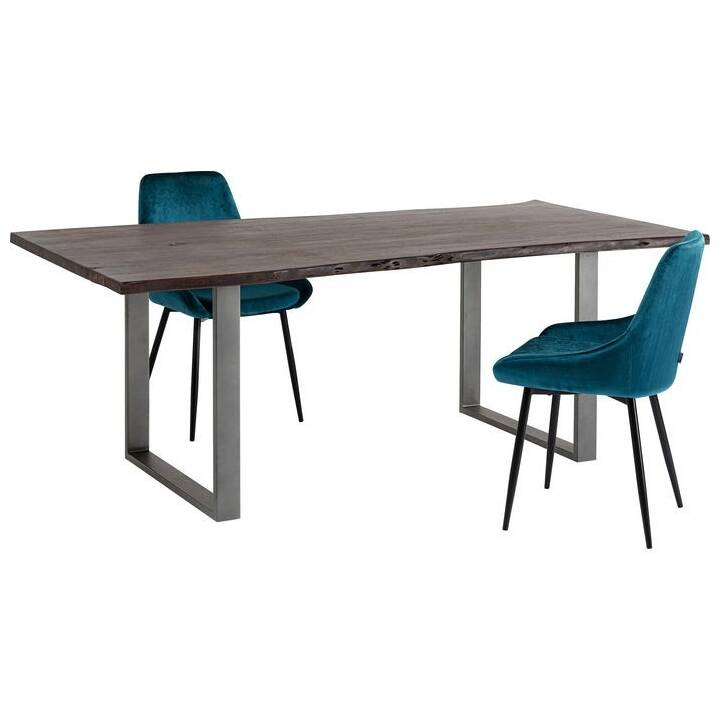 KARE Table de repas Harmony (100 cm x 200 cm x 76 cm, Brun, Métal)