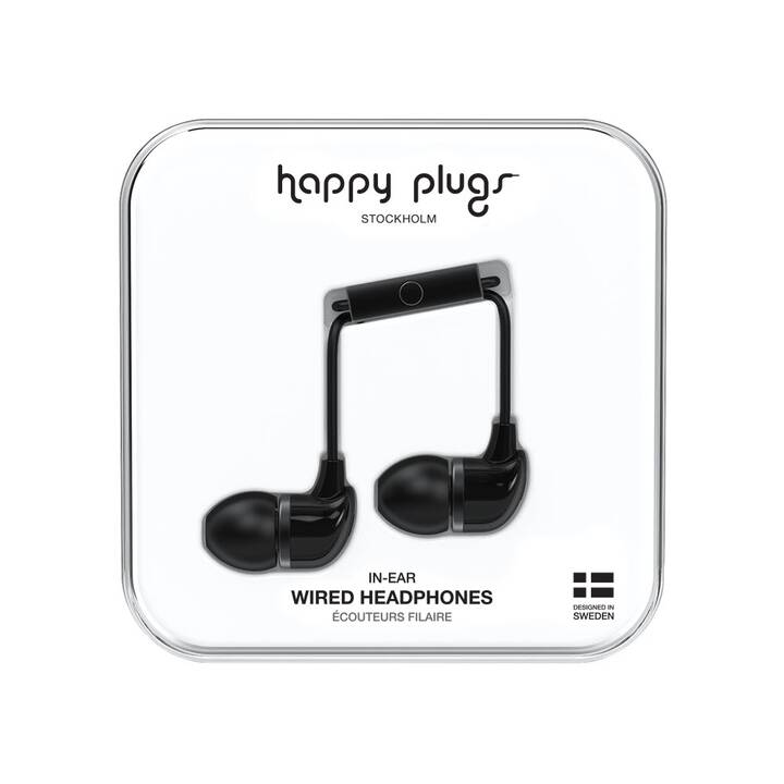HAPPY PLUGS BLACK (In-Ear, Nero)