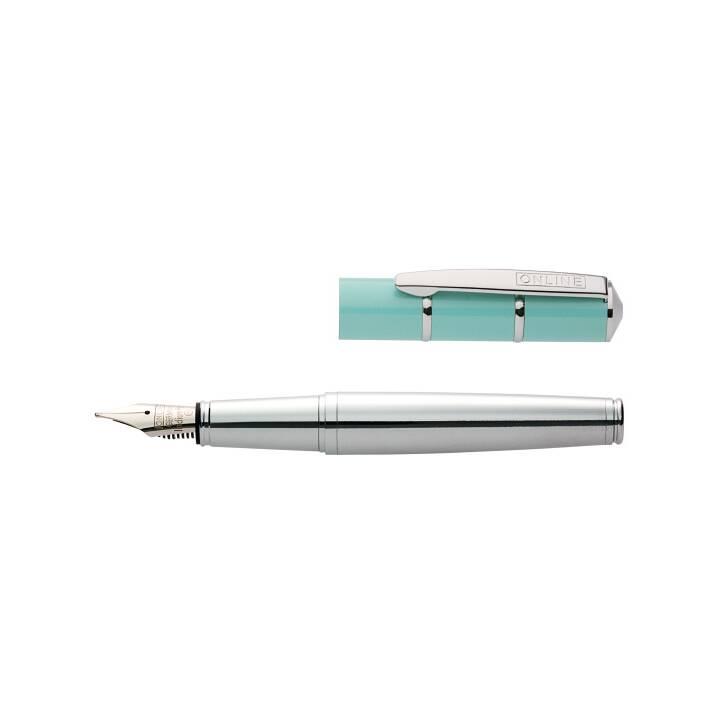 ONLINE Piccolo Penne stilografice (Turquoise, Argento)