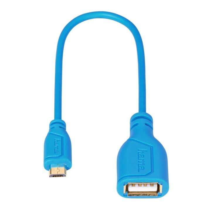 HAMA Cavo USB (Spina Micro USB 2.0 di tipo B, Spina USB 2.0 di tipo A, 0.15 m)