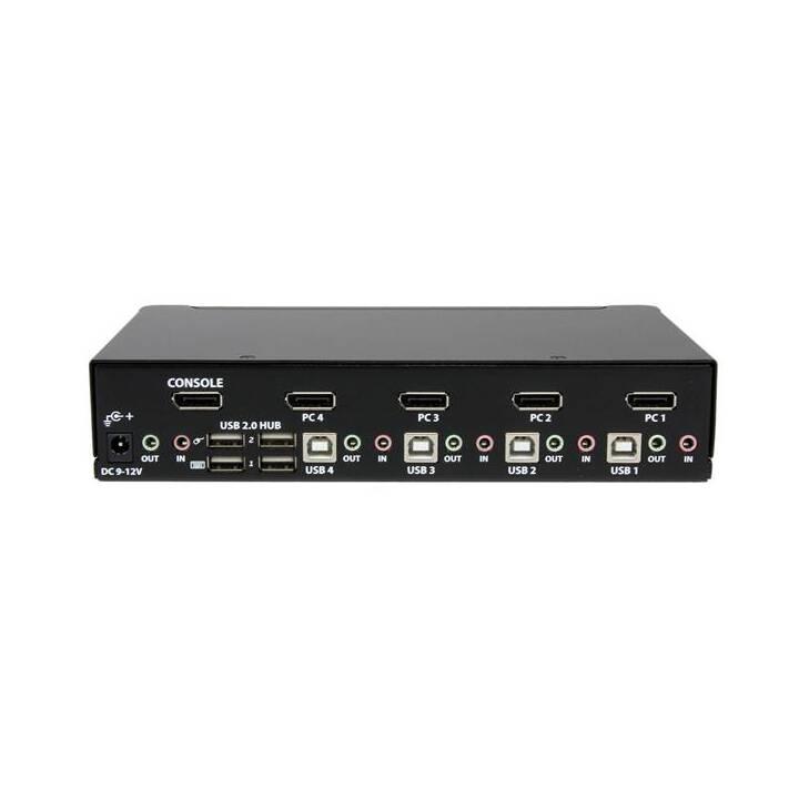 STARTECH.COM 4-Port DisplayPort / USB KVM Switch