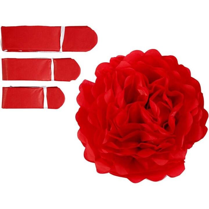 CREATIV COMPANY Pompons Rouge