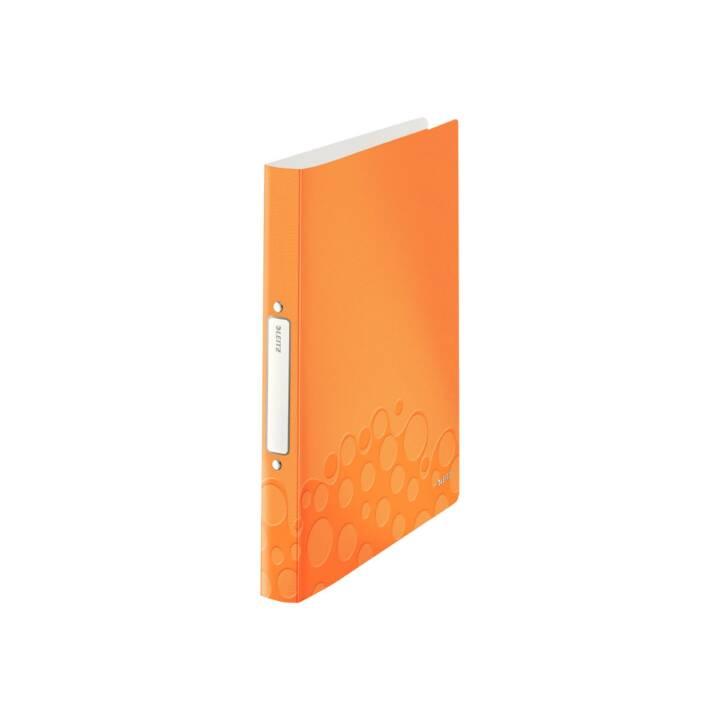 Reliure à anneaux LEITZ WOW A4 A4 Orange Anneau 25 mm