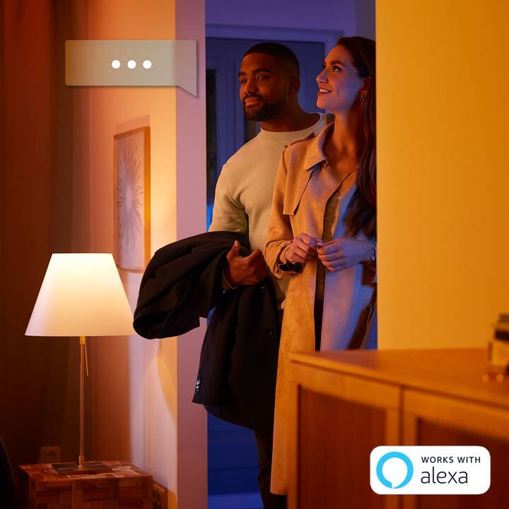 PHILIPS HUE Aufbauspots Fugato White and Color Ambience 4 Spot BT (LED, 26 W)