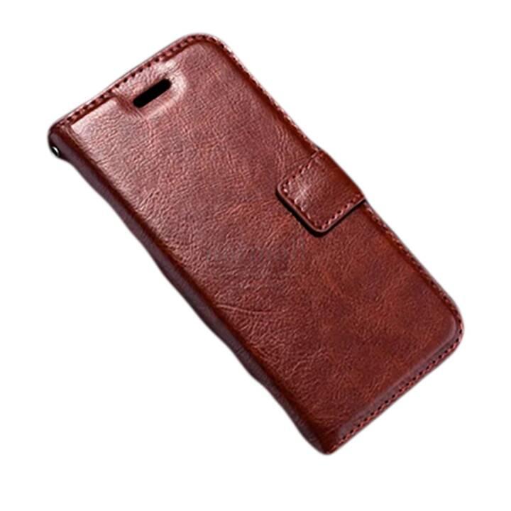 EG Portafoglio Flip Case per iPhone X Brown