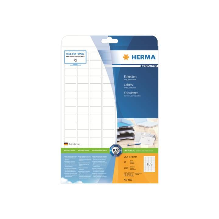 HERMA Etiketten Premium A4 25.4x10 mm