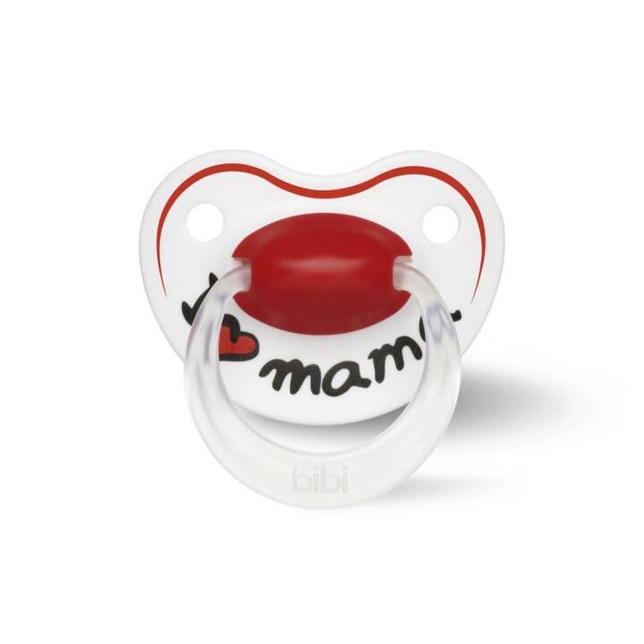 BIBI Ciucci I love Mama (16 Mesi, Bianco, Rosso)