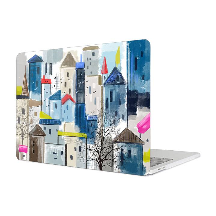 "EG MTT Hülle für Macbook Pro 13"" Not Touchbar (2016 - 2018) - Painting City"