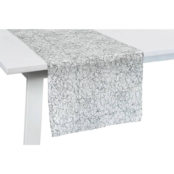 PICHLER Chemin de table Vento (450 mm x 140 cm, Rectangulaire, Argent)