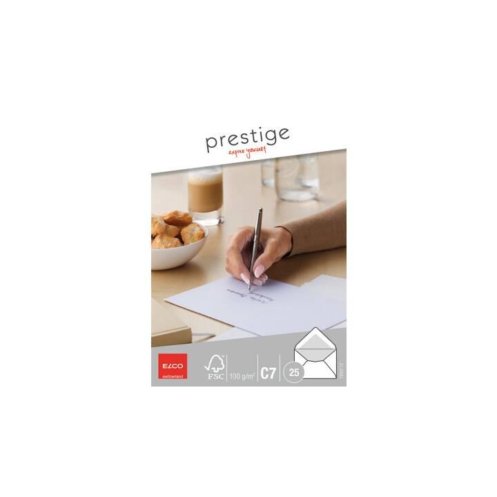 ELCO Prestige Briefumschlag, C7, Hochweiss