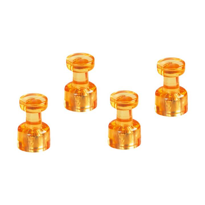 Aimant MAGNETOPLAN. Porte-mémo orange 18x11mm 4 pcs.