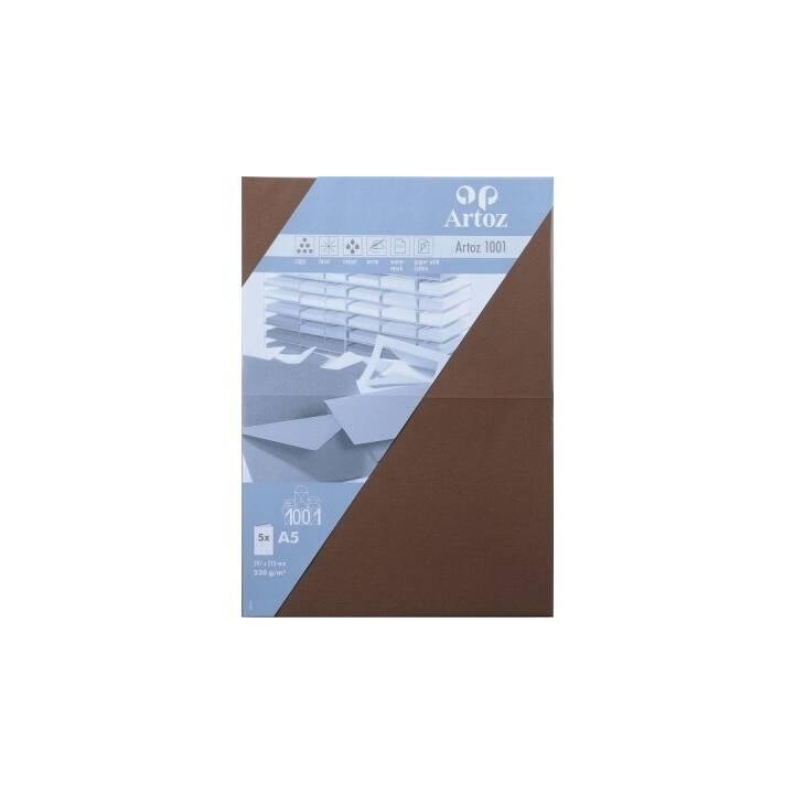 ARTOZ Blankokarte (Universal, A5, Braun)