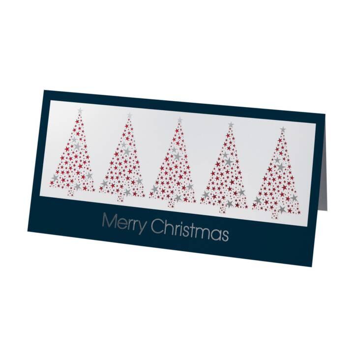 SIGEL Carte de Noël Merry Christmas (Rouge, Bleu)