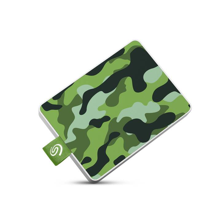 SEAGATE One Touch (USB 3.0, 500 GB, Grün, Camouflage)
