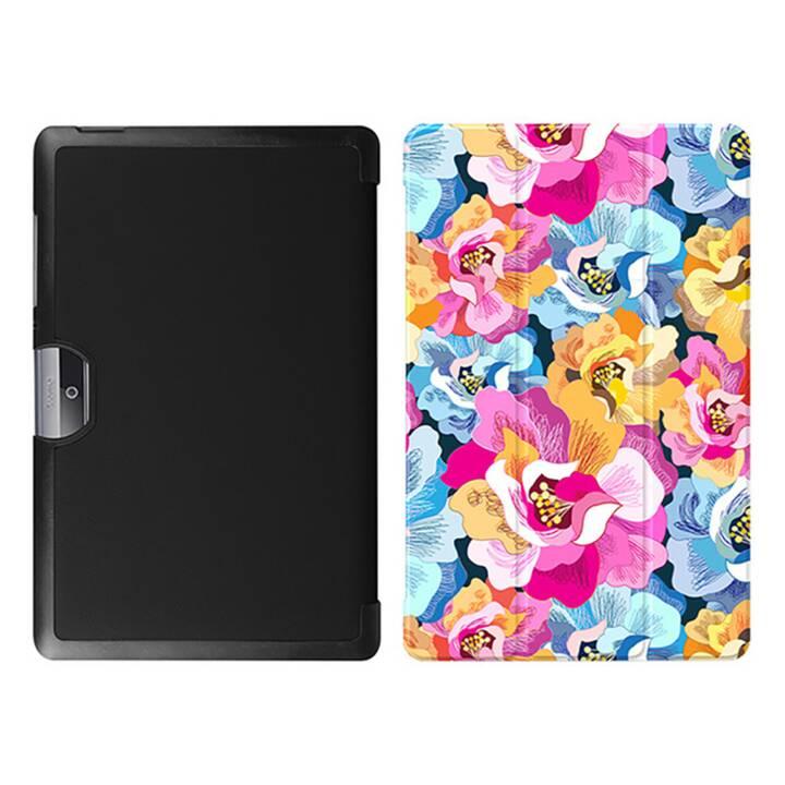 """EG MTT Tablet Tasche mit faltbarer Abdeckung für Acer Iconia Tab 10 10.1 """"- Pink Flowers"""