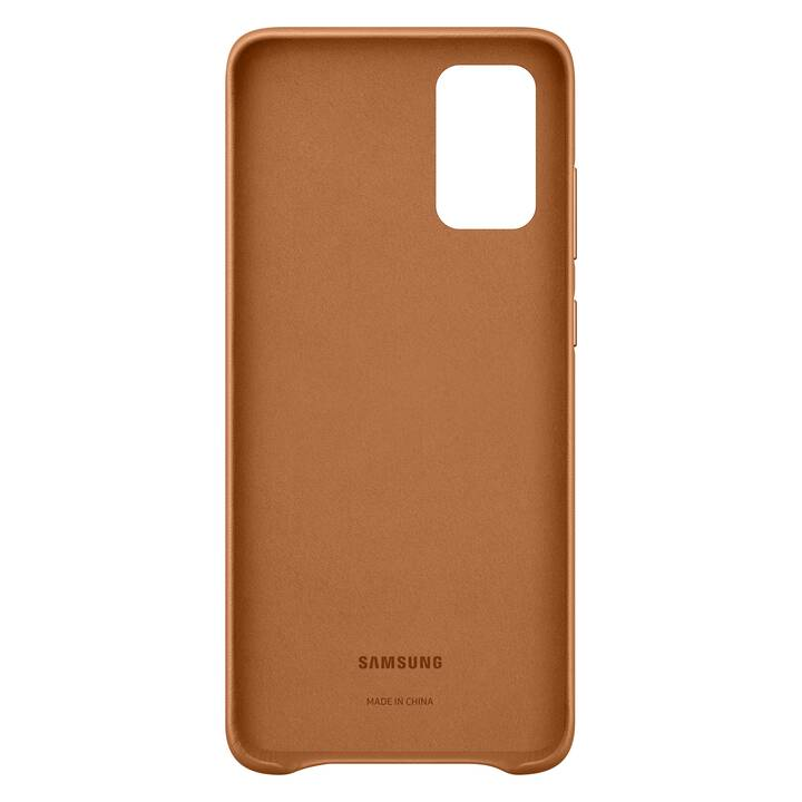 SAMSUNG Backcover Leather (Galaxy S20+, Braun)