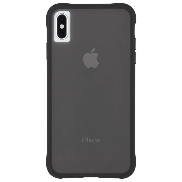 CASE-MATE Backcover Tough Clear (iPhone XS Max, Schwarz)