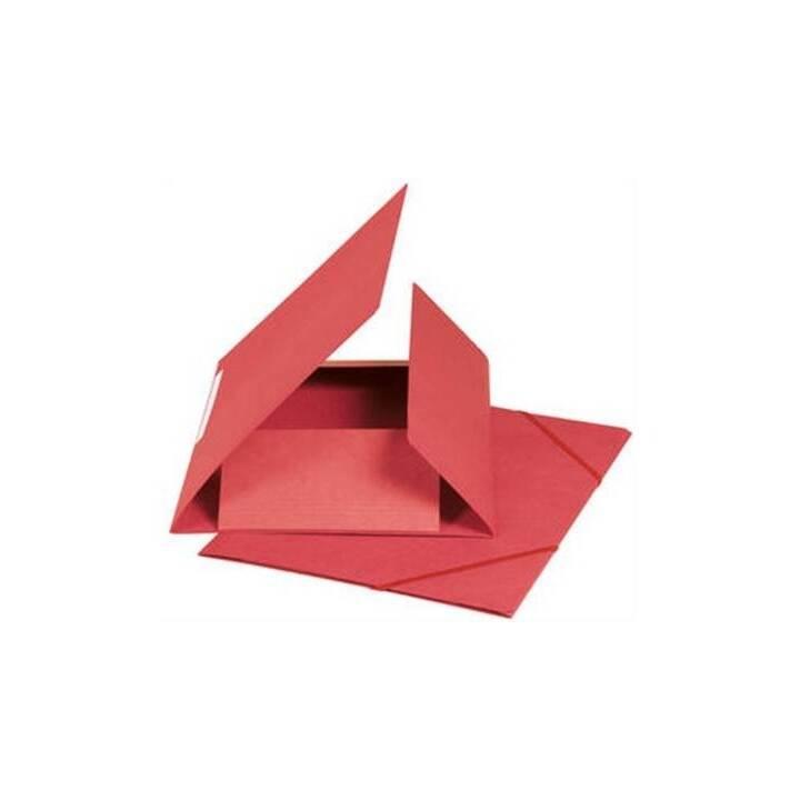Cartella elastica BIELLA A4 rosso, 590gm2 220 fogli
