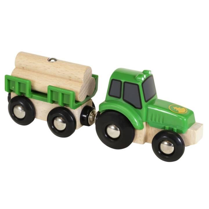 BRIO Eisenbahn Traktor mit Holz-Anhänger