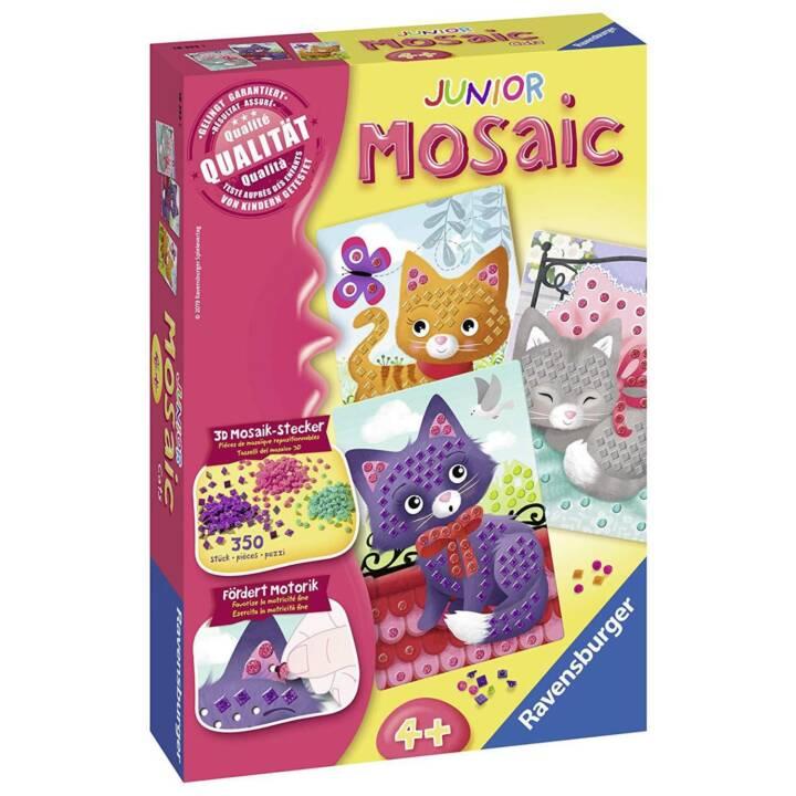 RAVENSBURGER Basteln und Gestalten Mosaic Junior Katzen