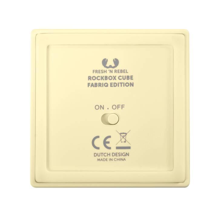 FRESH 'N REBEL Rockbox Cube Fabriq Edition (Bluetooth, Creamy)