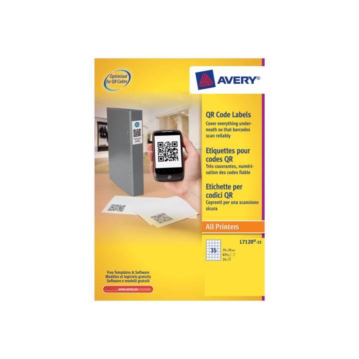 AVERY ZWECKFORM QR Code Etiketten (875 x, A4)