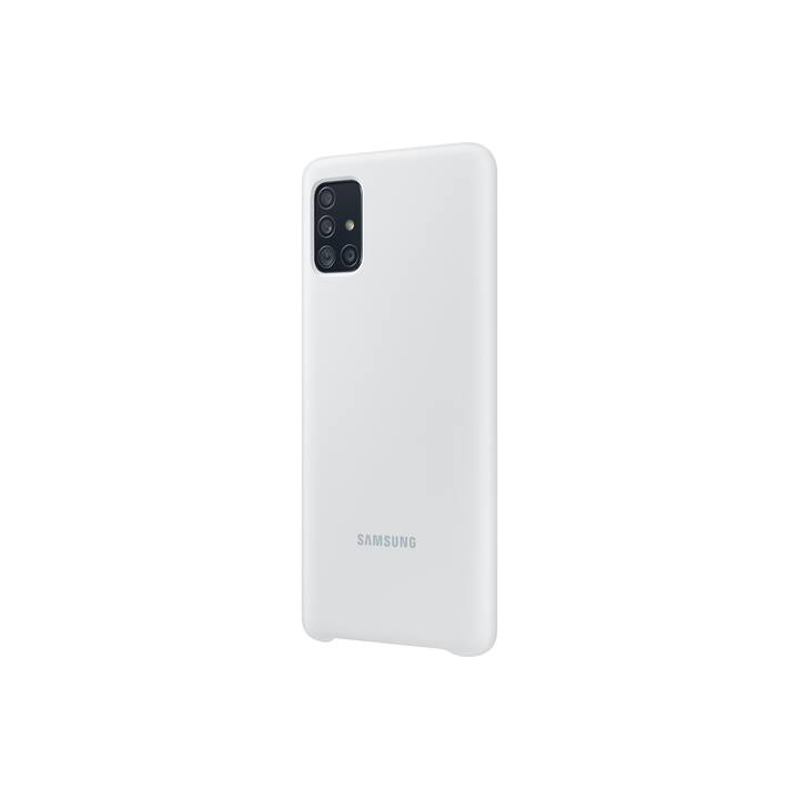 SAMSUNG Backcover Silicone Cover (Galaxy A51, Weiss)