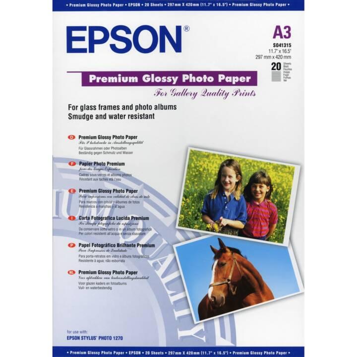 EPSON Premium Premium Papier photo brillant