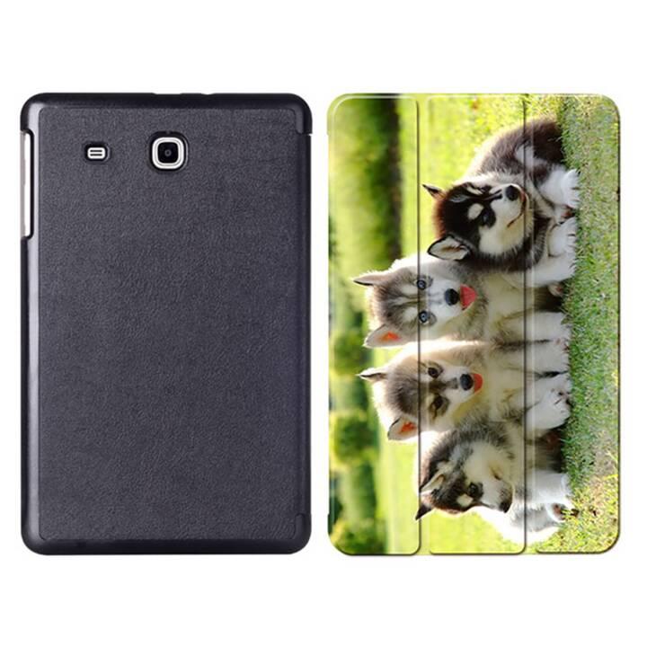 """EG MTT Tablet Tasche mit faltbarer Abdeckung für Samsung Galaxy Tab E 9.6 """"- Hunde"""