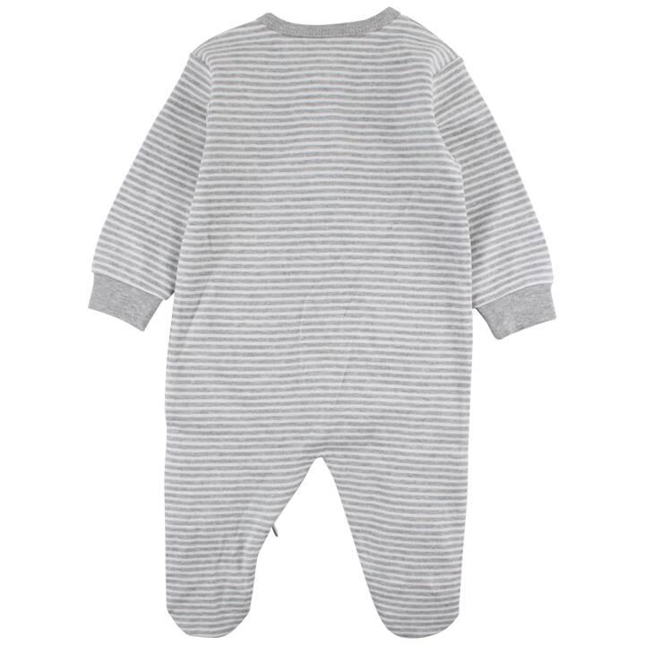 FIXONI Pyjama bébé Grey Melange (68, Gris, Blanc)