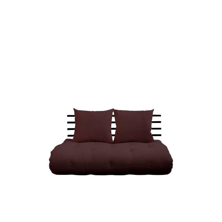 KARUP DESIGN Shin Sano Divano letto (Poliestere, Lino, Nero, Marrone, 140 cm x 95 cm)