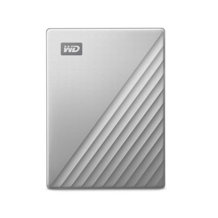 WD My Passport for Mac (USB 3.0, 4 TB, Argento)