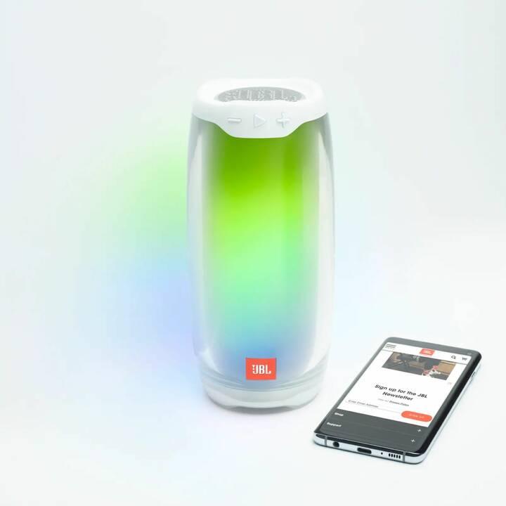 JBL Pulse 4 (Bluetooth, Weiss)