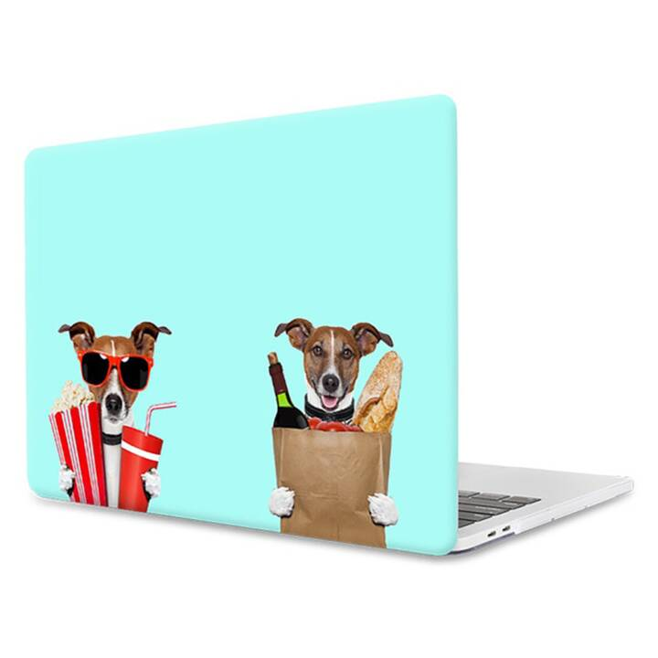 "EG MTT Copertina per computer portatile per Macbook Air 11"" - Mint Funny Dogs"