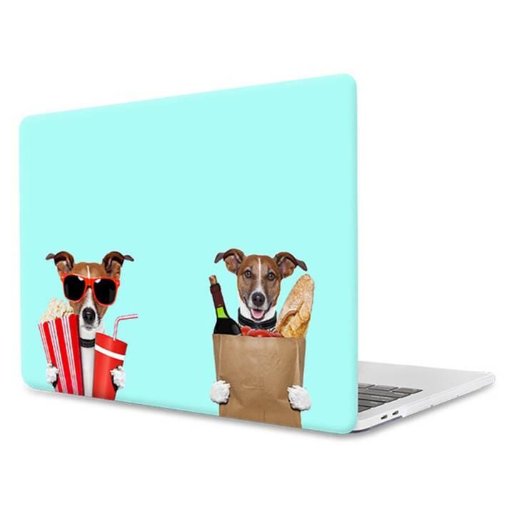 "EG MTT Laptop Cover für Macbook Pro 13"" Touch Bar - lustige Mint Hunde"